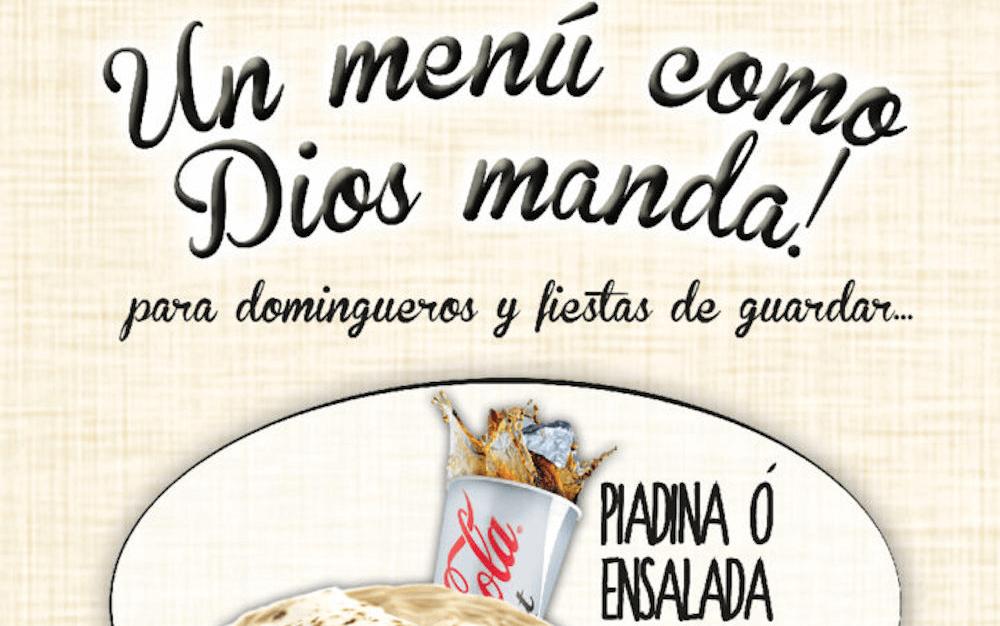 Un menú como Dios manda